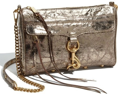 "Rebecca Minkoff ""Mac"" Crinkled Metallic Lambskin Clutch"