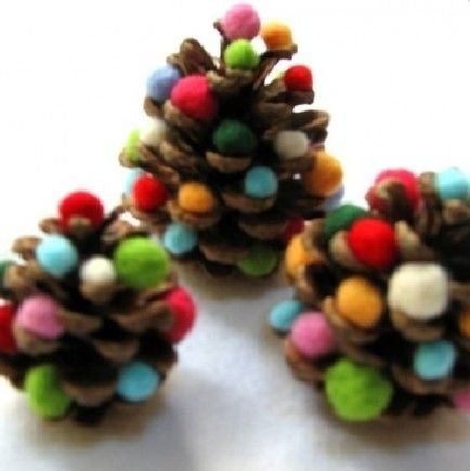 Pine Cone Christmas Trees - 35 Pine Cone Crafts to Add a Seasonal…
