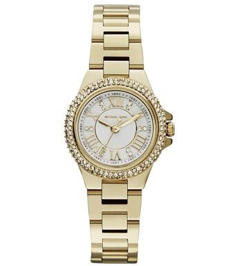 Mini Golden Stainless Steel Camille Three-Hand Glitz Watch
