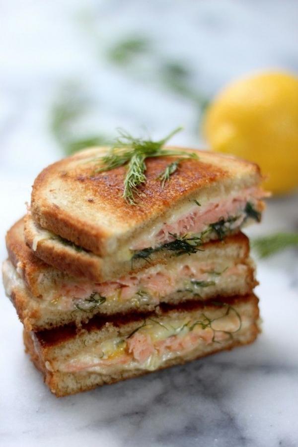 Smoked Salmon & Gruyere Grilled Cheese