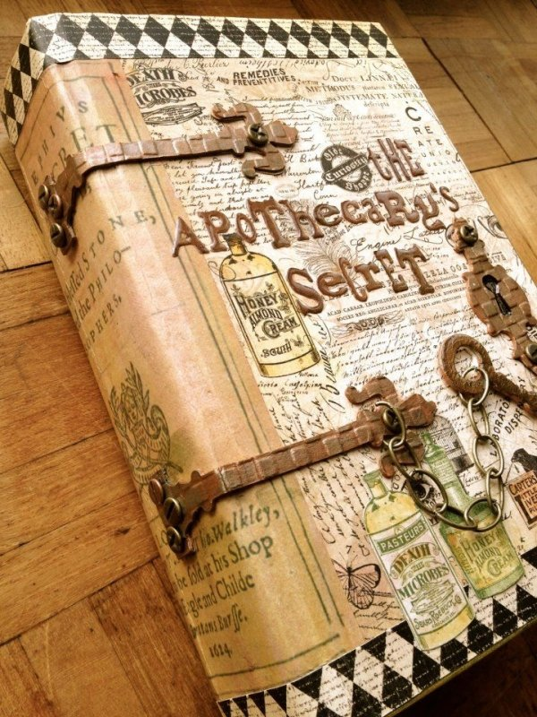 Recycle old books 53 ideas for diy journals diaries smash - Diy uses for old books ...
