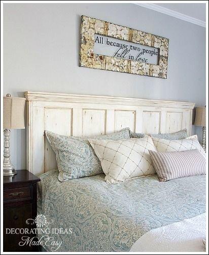 vieille porte tête de lit  Têtes de lit bricolage rêveurs