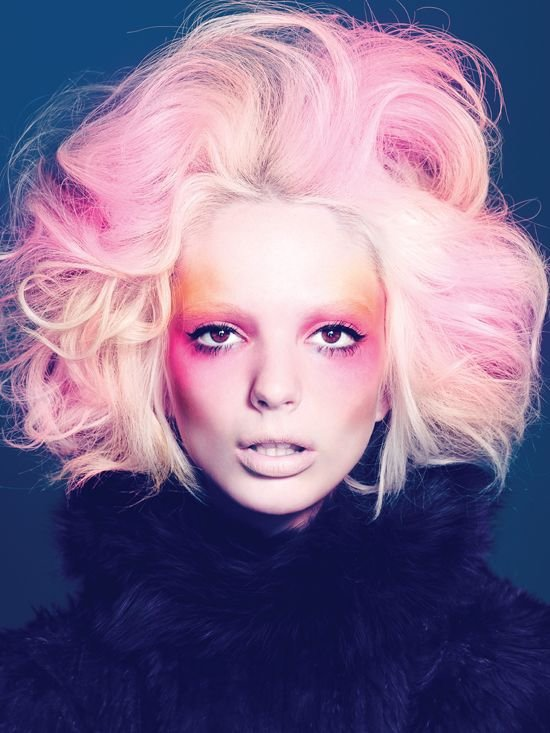 In The Pink Beauty Or Art Stunning Avant Garde Makeup