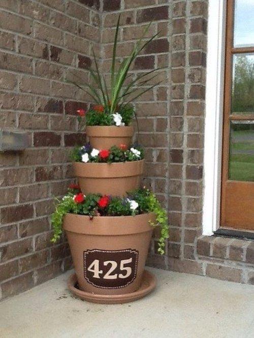 Planter Address Sign