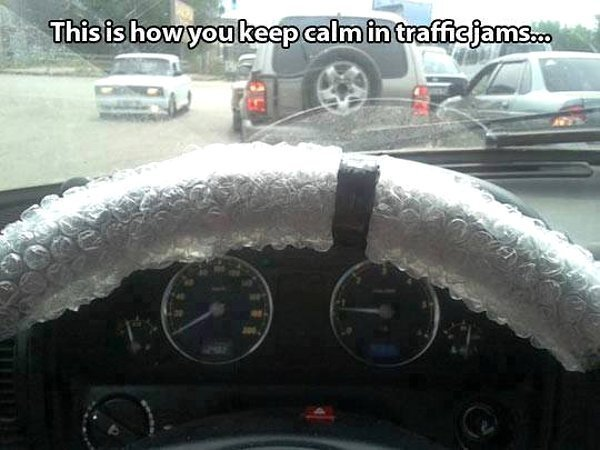 Stressed in Traffic Jams?