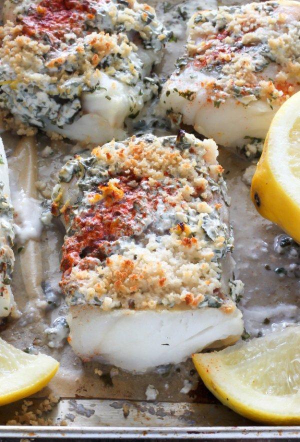 Lemon, Garlic, and Herb Baked Cod