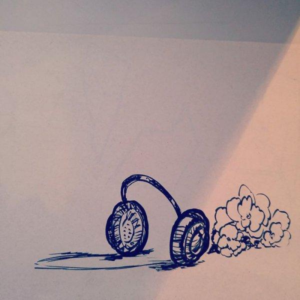 blue, art, drawing, sketch, circle,