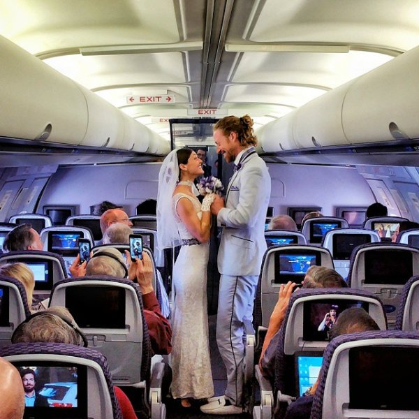 Married at 40,000 Feet