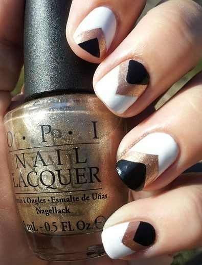 Add Metallic Gold Features to Neutral Nails