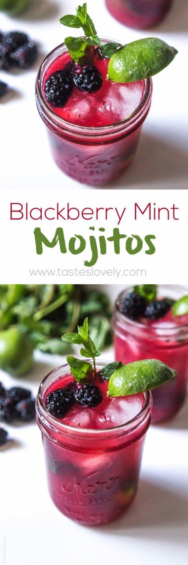 Blackberry Mint Mojitos