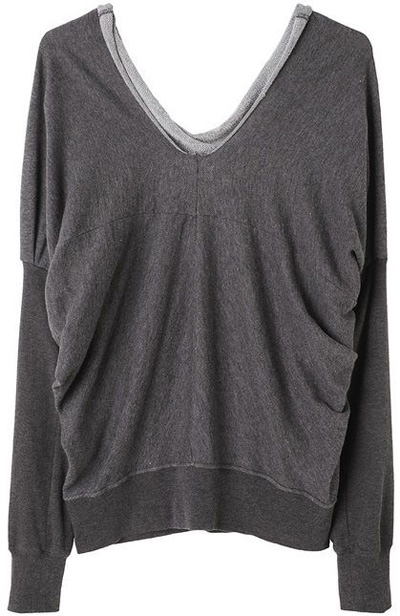 Zucca Draped Pullover Sweat Shirt