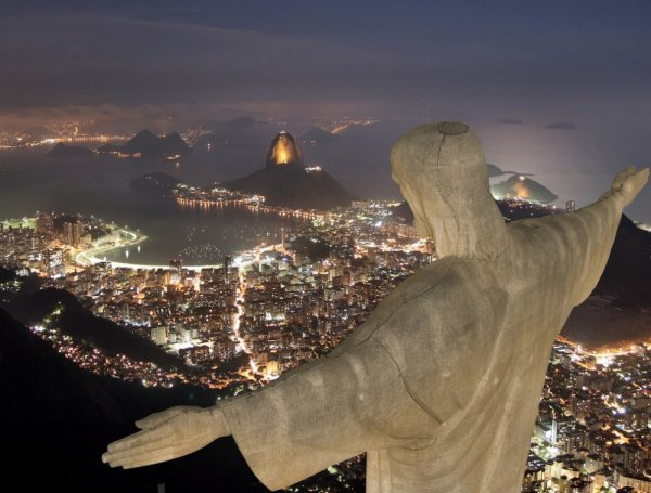 Corcovado, night, monument,
