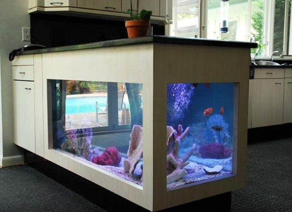 Küche Schrank Aquarium