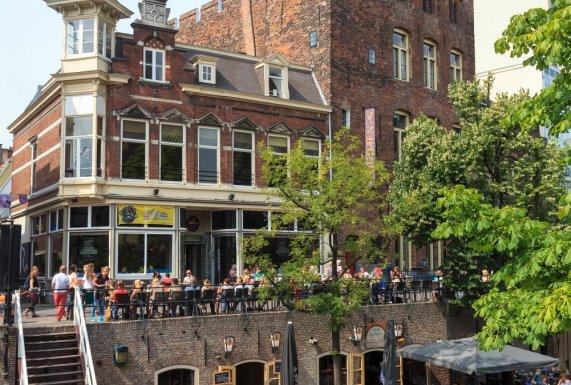 Drinking Beer at Utrecht's Stadskastell Oudæn , the Netherlands