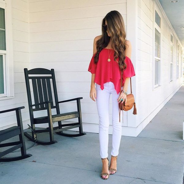 white, clothing, red, human positions, dress,