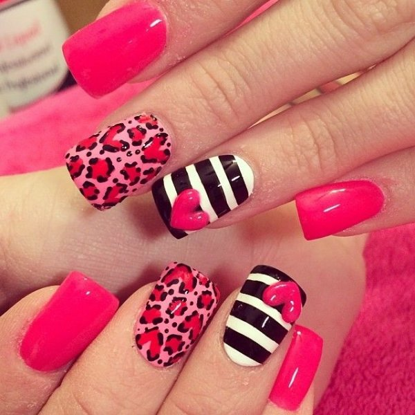 Plain Nails - 39 Fabulous 🤗 Valentine\'s Day Nail Art Designs…