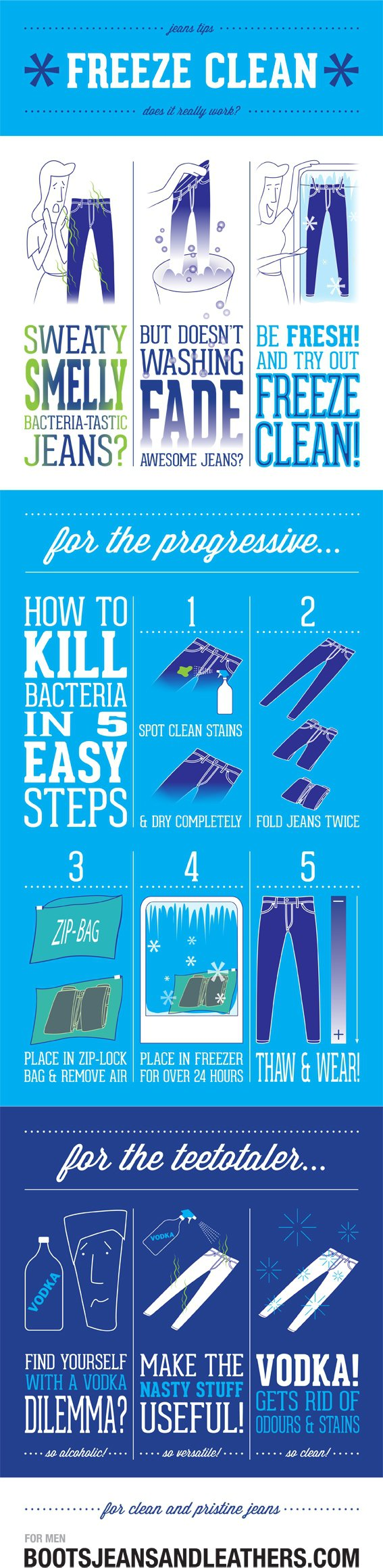 Freeze Clean Your Jeans