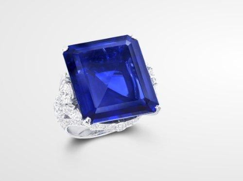 Graff Emerald-Cut Sapphire Ring