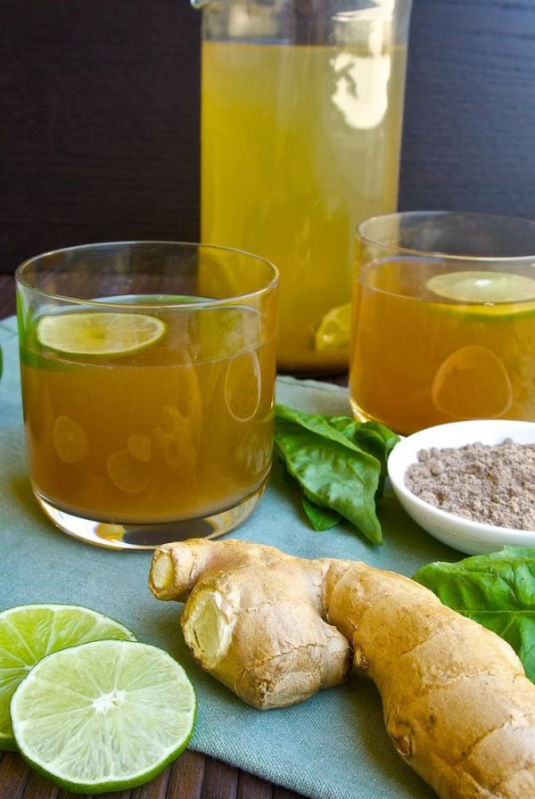 15. Basil Ginger Tea - Sip on These Low Calorie Hot Drinks Anytime…