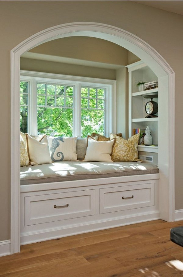 Window seat love books here 39 s a reading nook or 27 Window seat reading nook