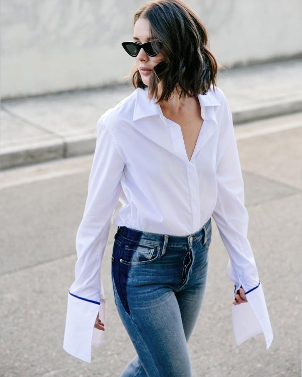 white, clothing, denim, jeans, sleeve,