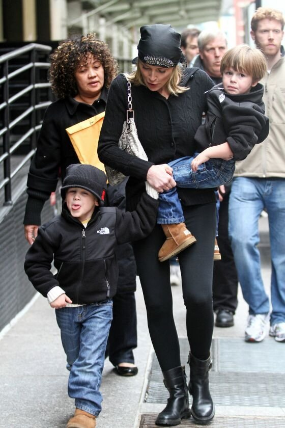 Sharon Stone with Laird and Quinn