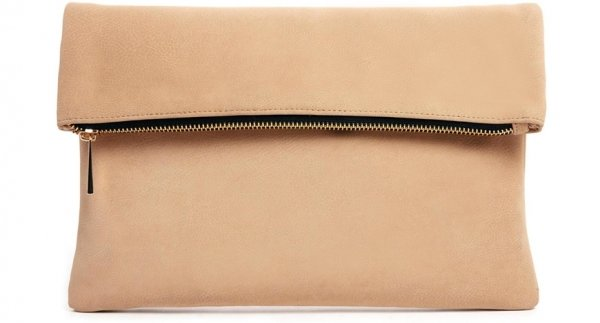 Square Clutch Bag with Zip-Top - 7 Stylish Roll-Top Clutches That…
