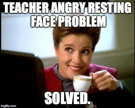 mjz2aeyi564a26bf3eb94854253474 instead of resting bitch face the ultimate teacher's memes