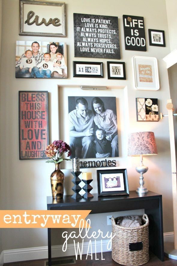 Front Entryway Wall