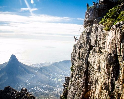 Abseiling in South Africa