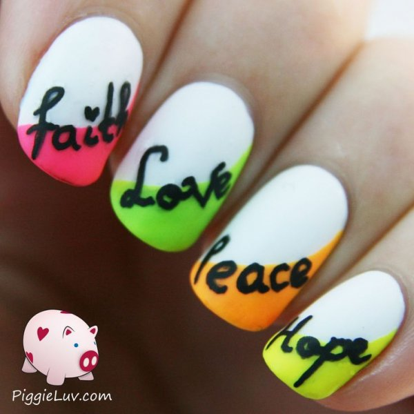 Inspirations on your nails 45 awesome reasons to try neon nail inspirations on your nails prinsesfo Image collections