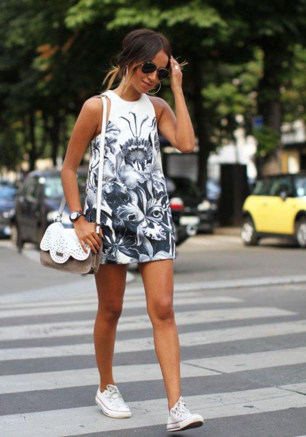 Walking Pretty: Printed Dress