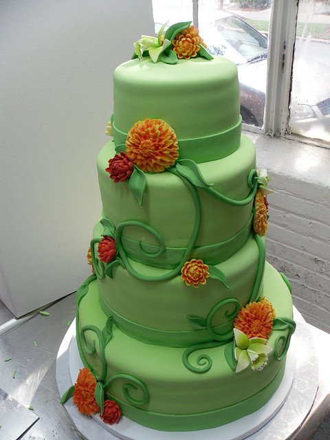 wedding cake,green,food,cake,sugar paste,