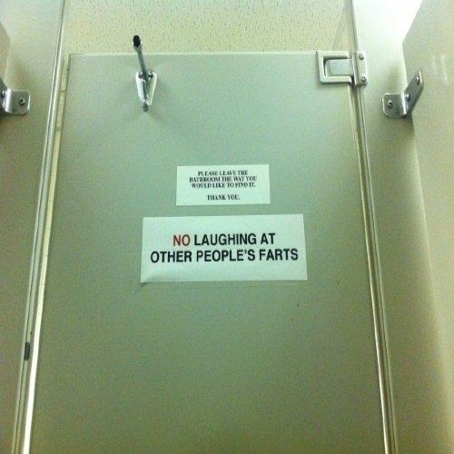 """Bathroom Humor bathroom humor"""" - 23 hysterically funny office notes  …"""
