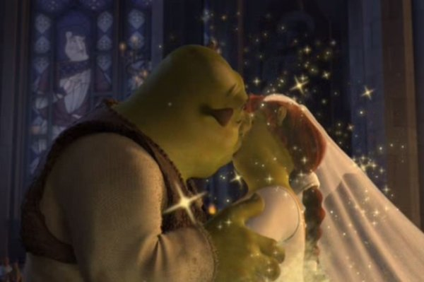 Shrek and Fiona, Shrek - Great Movie Kisses - Part II ... …