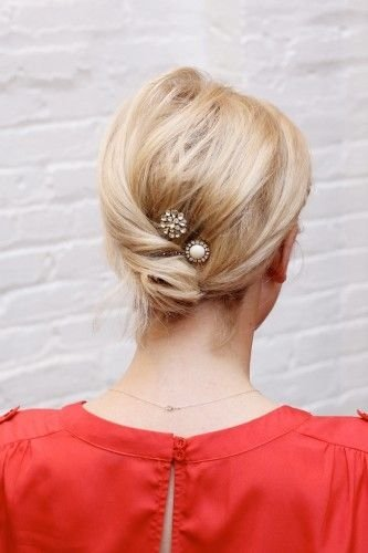 Low Bun with Baubles