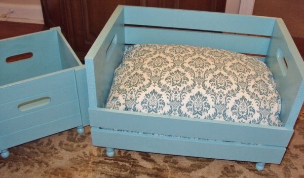 how to make a wooden crate bed