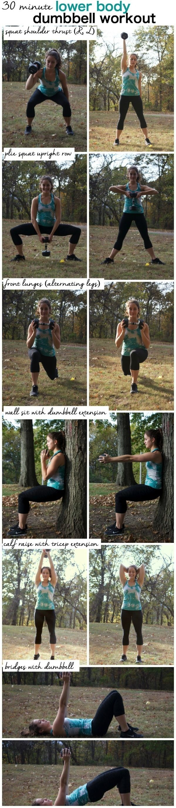 30 Minute Lower Body Dumbbell Workout