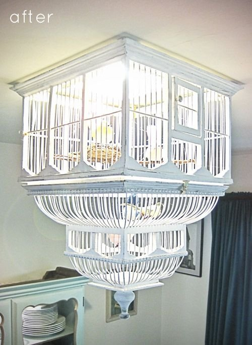 Diy birdcage chandelier 34 diy chandeliers to light up your diy birdcage chandelier aloadofball Image collections