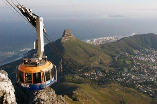 Take the Cable Car up Table Mountain in South Africa