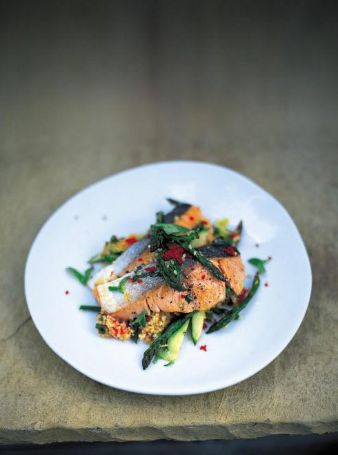 Jamie Oliver's Salmon and Couscous