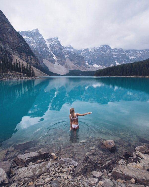water, reflection, nature, lake, mountain,