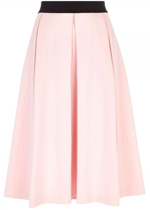 River Island Box Pleat Midi Skirt