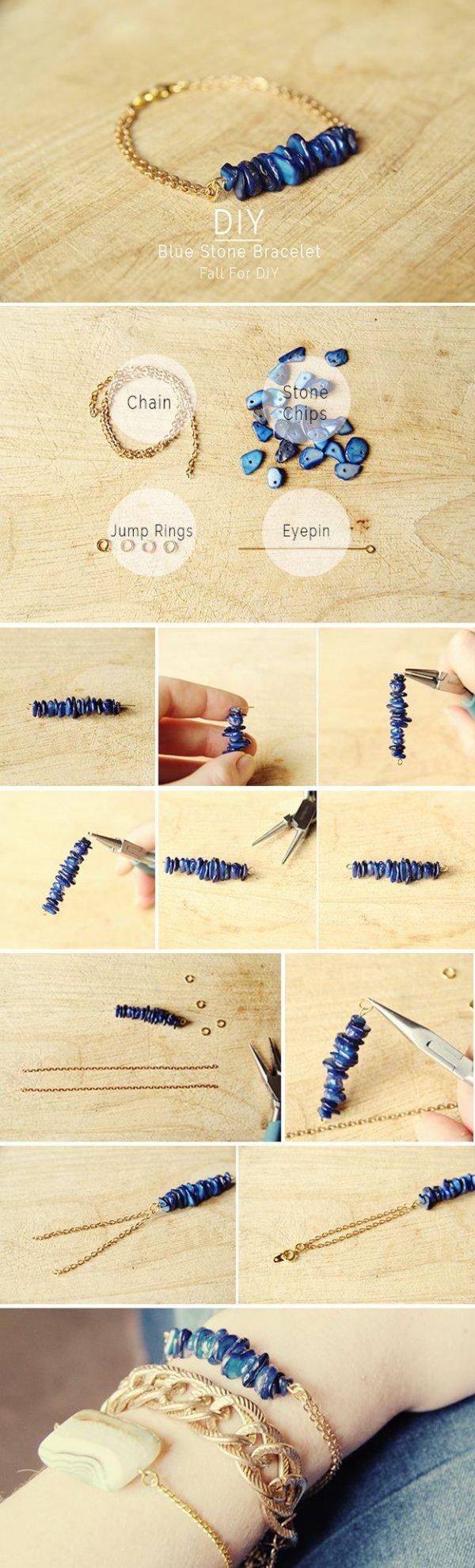 Blue Stone Bracelet