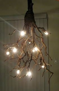 Driftwood Ceiling Light & Driftwood Ceiling Light - 34 Driftwood Crafts to Give a Beachyu2026