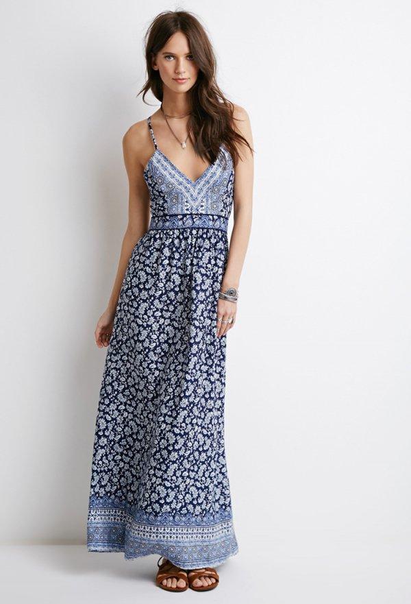 vestido maxi paisley