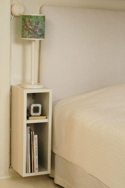 Construir una peque a mesita de noche espacio ahorro - Mesita de noche pequena ...