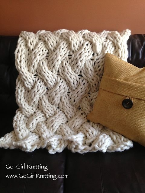 Big Knitted Throw - 20 Cozy Throw Blankets for Any Spot in ...
