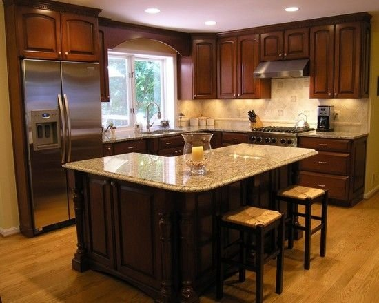 L shaped kitchen island 22 kitchen islands that must be for Kitchen cabinets 12x12