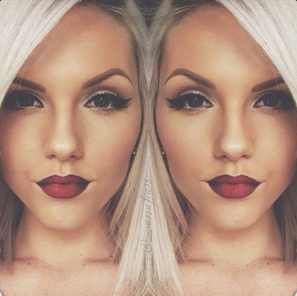Dark Lipstick with Light Hair - 28 Perfect Lipstick 💄 Inspos for…